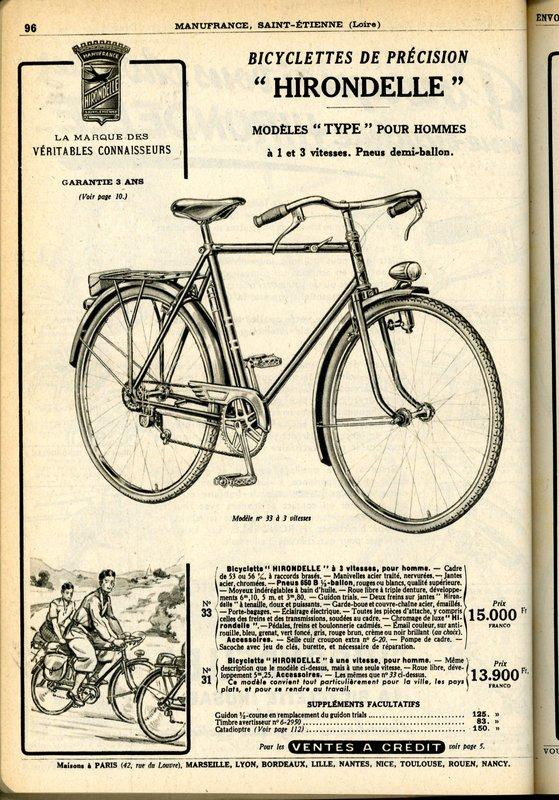 Hirondelle Manufrance 1949/50 File