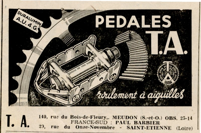 TA pedal ad Le Cycle No. 9 (1952).jpg