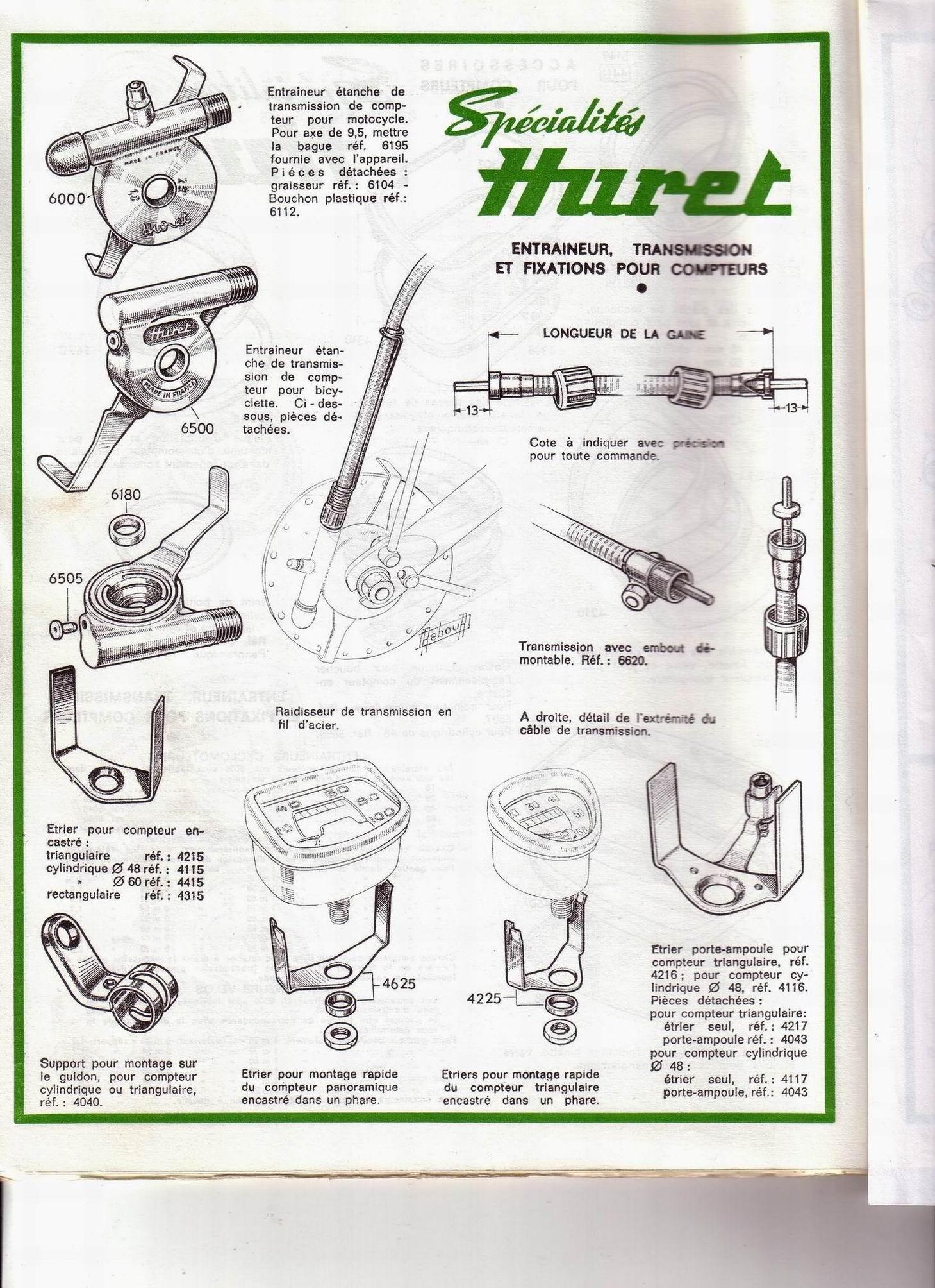 huret - catalogue gamme HURET  années 1968 File