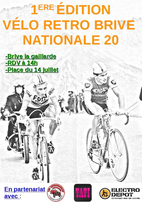 """1 ère édition """" rétro vélo brive N 20 """" dimanche 26.06.2016  File"""