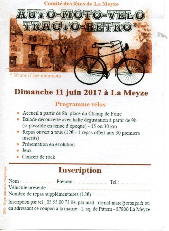 "balade vélo "" la meyze"" dimanche 11 juin 2017 File"