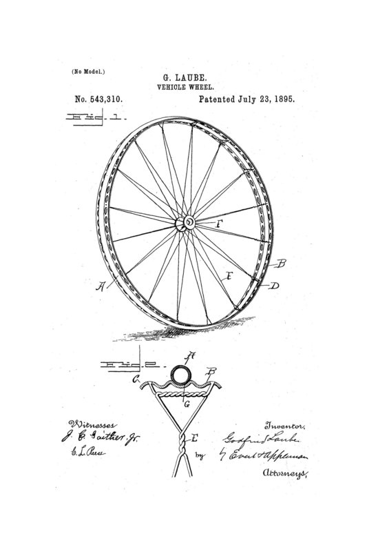 Velo de course 1900-Rayonnage-Godfried Laube Patent sketch-1895-source University of North Texas Libraries.jpg