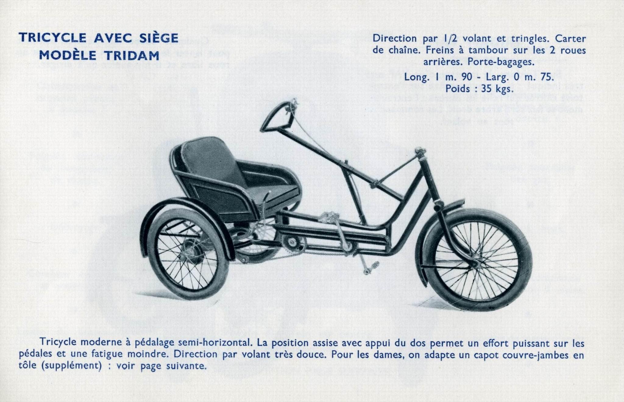 Cherche pièces pour restauration d'un Tricycle Poirier type Tridam File